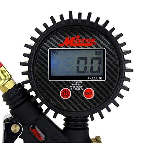 Milton-s-575d-Pro-digitale-a-pistola-gonfiaggio-manometro--Ball-Foot-Chuck-e-tubo-381-cm--255-psi