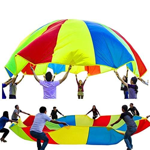 WUYEA Juguete para Actividades de Grupo de paracaídas Rainbow Umbrella Parachute Juguete...