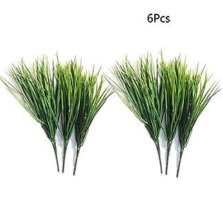 Sprießen – Plantas Artificiales para Interior y Exterior, para casa, Cocina, Oficina, Boda, jardín, balcón, decoración Verde, 6 Unidades
