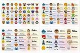 Kigima 114 Aufkleber Sticker Namens-Etiketten rechteckig Melina verschiedene Größen und Tiermotive