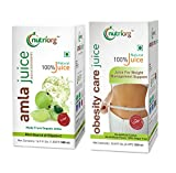 Nutriorg Weight loss Package is a Great combination Of Amla Juice & Obesity care Juice. Nutriorg Amla Juice is Made from pure organic amla grown at company owned certified organic farms. Nutriorg Obesity care Juice is made from Garcinia, Green Te...