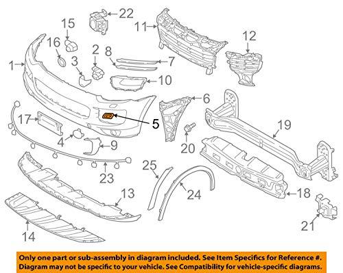 Porsche OEM 15-17 Cayenne 95850533300G2X - Parachoques Delantero Izquierdo