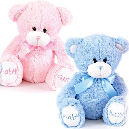 Teddy bears for babies amazon 8 baby boy girl birth new born cosy plush toy soft kids cuddly teddy bear gift blue boy altavistaventures Image collections