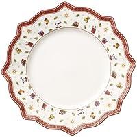 Villeroy & Boch Toy's Delight Weißer Speiseteller, 29 cm, Premium Porzellan, Weiß/Rot