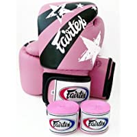 Fairtex guantes de Muay Thai BGV1 Edición limitada nación Impresión - rosa tamaño: 10 12 14 16 oz. Entrenamiento y Sparring guantes de Kick Boxing MMA K1, color  - Pink Natiion Print, tamaño 12 onzas