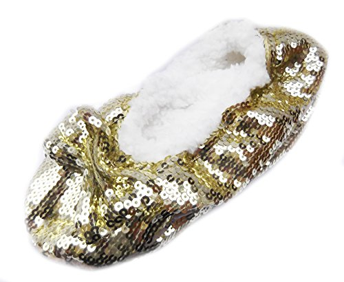 Snoozies , Chaussons pour femme Bling Gold