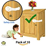 #5: Snuggles Furniture Safety Locks for Kids (21x5cm, White) - 10 Pcs