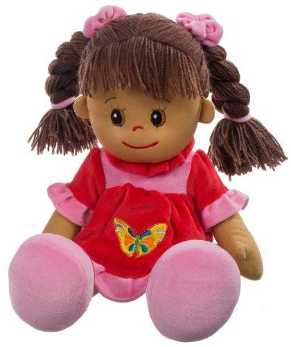 Heunec 470873 - Poupetta Lucy mit braunem Haar XL