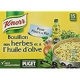 Knorr Bouillon Herbes Et Huile d'Olive Puget 15 Cubes 150g - Lot de 4