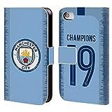 Head Case Designs Officiel Manchester City Man City FC Kit Maison 2019 Champions Coque en Cuir à Portefeuille Compatible avec iPhone 4 / iPhone 4S