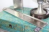 XL Dekoschale 84cm Alu massiv Silber Schale schmal lang Tablett Dekotablett