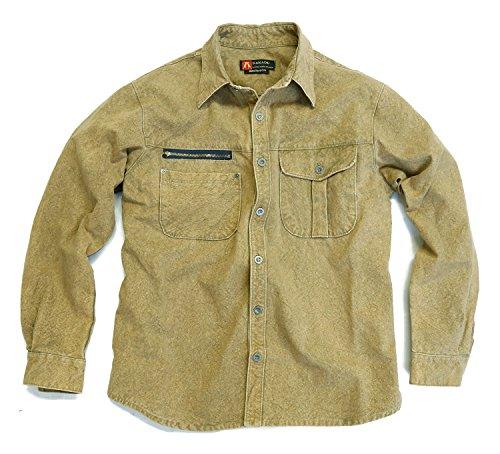 Kakadu Traders Herren Outdoorhemd Brighton mit Reißverschlusstasche auf der Brust Khaki