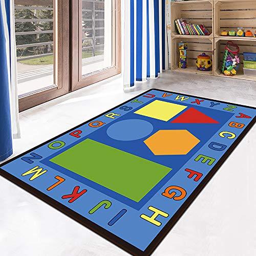 HSRG Rug Kinder Teppiche Baby-Kindertagesstätte Rugskids Teppiche Teppich Mädchen Schlafzimmer Spielmatte Schule Klassenzimmer Lernen Teppich Pädagogischen Teppich,B,80×120Cm
