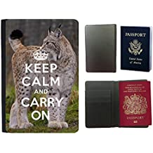 Passeport Voyage Couverture Protector // Q01016317 keep calm and carry on 800 // Universal passport leather cover