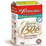 Francine farine de blé t45 1kg - ( Prix Unitaire ) - Envoi Rapide Et Soignée