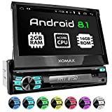 XOMAX XM-DA708 Autoradio with Android 8.1, Quad Core, 2GB RAM, 16GB ROM, GPS Sat Nav I Bluetooth I DVD, CD, USB, SD, AUX I Support: WiFi, WLAN, 3G, 4G, DAB+, OBD2 I 7'' Touch Screen I 1 DIN