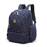 #7: T-Bags Mommy and Baby Polka Dot Blue Backpack Diaper Bag With Changing Mat And Bottle Pouch,Stroller Hook