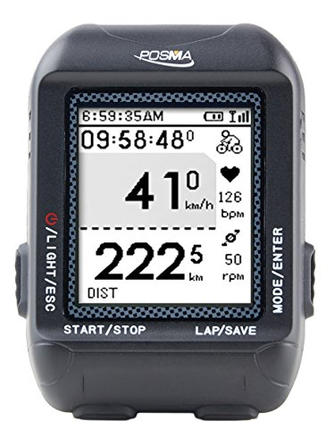 POSMA D3 GPS Cycling Bike Computer Speedometer Odometer with Navigation, ANT+ Support STRAVA and MapMyRide
