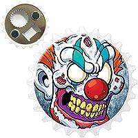 Scary Zombie Walking morti viventi apribottiglie magnete per frigorifero, Red Nose Scary Circus Clown, Bottle Opener