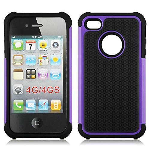casefirst iPhone 4 4S Back Shell Case, Ultra Slim Fit Girls Back Shell Full Protective Cover for iPhone 4 4S Purple (Für Case Carry Iphone 4s)