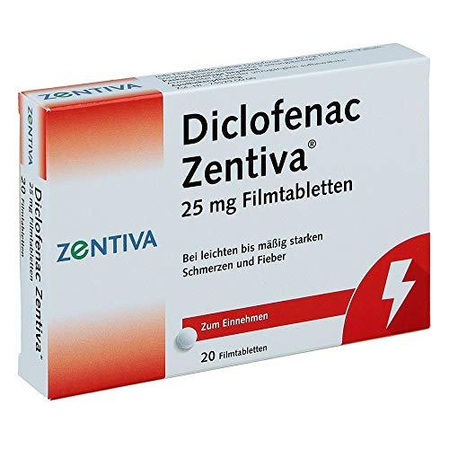 Diclofenac Zentiva 25 mg, 20 St Filmtabletten