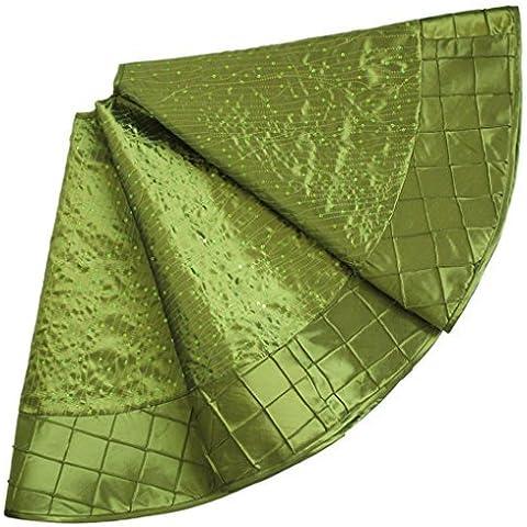 SORRENTO Sequin ricamato Pintuck parete, 90 CM Verde