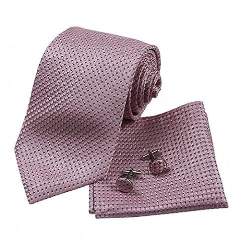 H5099 Rosa Paisley Popular Valentines Geschenk F¨¹r Freund Seide Krawatte Manschettenknopf Taschentuch Set 3PT Von Y&G