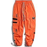 Feidaeu Pantaloni Cargo Harem da Uomo Tasche Laterali con Coulisse Regolabile Elastico Hip Hop Pantaloni da Jogging…