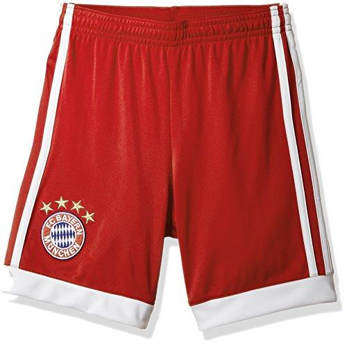 Adidas FCB H SHO Y Pantalón Corto 1ª Equipación FC Bayern De Múnich, Niños, Rojo (rojfcb/Blanco), 176 (15/16 años)