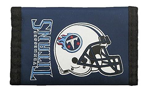 NFL Nylon Trifold Portefeuille, mixte, bleu
