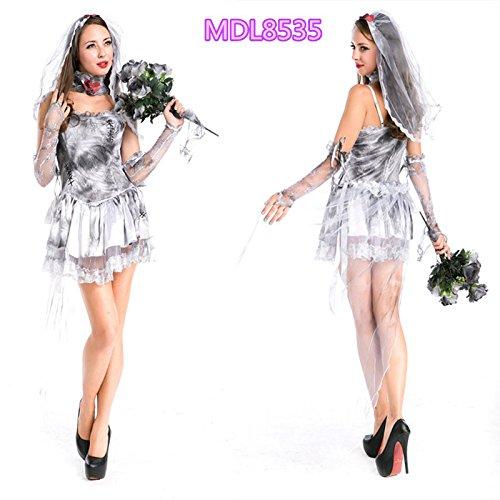 Gorgeous Vampire Zombie Frack Halloween-Kostüm Gespenst Braut Prinzessin - Gespenst Piraten Kostüm Weiblich
