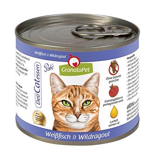 DeliCatessen Nassfutter Weißfisch & Wildragout, 6er Pack (6 x 200 g)