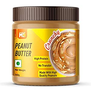 Muscleblaze Peanut Butter with Added Omega, Crunchy, 340g