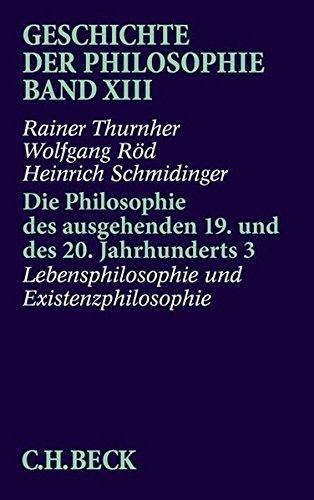 Geschichte der Philosophie Band XIII