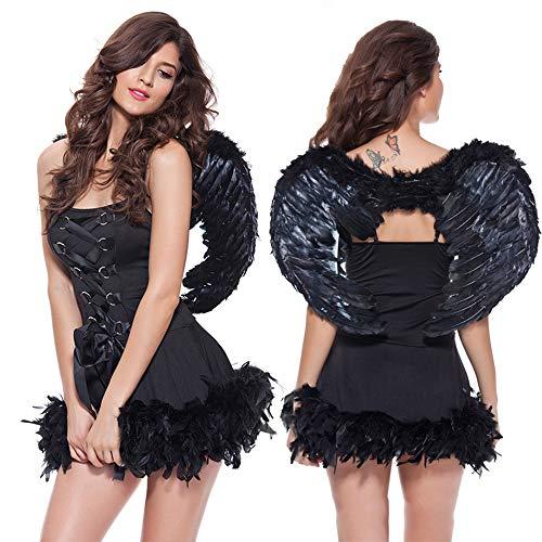 Sexy Fun Victorien Costume d'ange, Cute Petites Ailes Serré Tutu Cosplay Cadeau De Noël,Black
