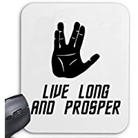 "Mousepad Computer Mouse "" Live Long And Prosper Star Trek Spock Volcano Trek"" For your laptop, notebook or PC Internet .. (Windows Linux, etc.) … the ideal gift for Christmas - birthday - Easter ... or just for yourself"
