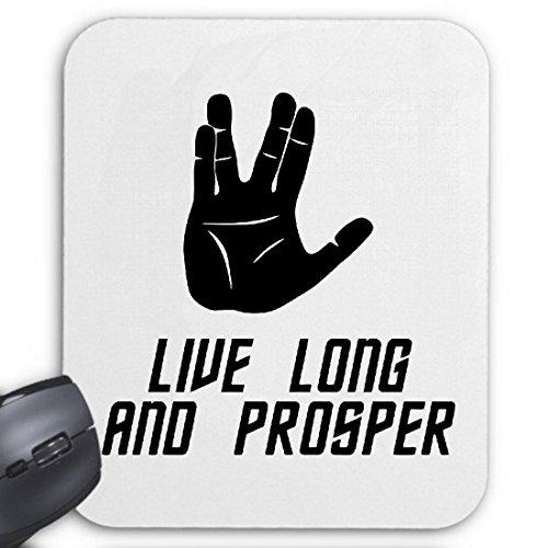 Preisvergleich Produktbild Reifen-Markt Mousepad (Mauspad) Live Long and Prosper Star Trek Spock Vulkan Trek für ihren Laptop,  Notebook oder Internet PC (mit Windows Linux usw.)
