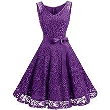 5577a566b5b Dressystar Robe Femme soirée Demoiselle d honneur Bal Col en V sans Manches