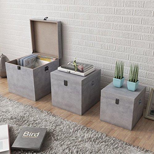 Lingjiushopping 3 - Caja almacenaje cuadrada tablero