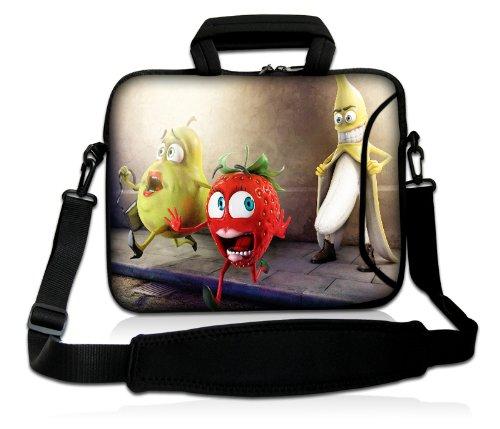 Luxburg® Design Laptoptasche Notebooktasche Sleeve mit Schultergurt und Fach für 17,3 Zoll, Motiv: Oh my God Banane