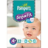 Pampers active Fit Taille 4 + (9-20kg) Carry 6x22 pack Maxi Plus par paquet
