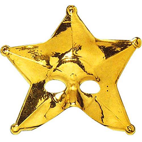 German Trendseller® - Stern Maske ┃ Gold ┃ Theater ┃ Karneval / (Fledermaus Gold Maske)