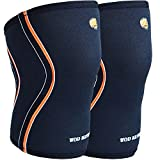WOD Nation Knee Sleeves for Weightlifting (1 Pair) Premium Support & Compression - Powerlifting & Crossfit - 5mm Neoprene Sleeve for The Best Squats - Fits Both Women & Men (Medium)