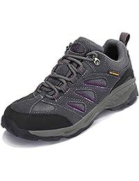 TFO Damen Wasserabweisende Trekkingschuhe & Wanderschuhe Rutschfeste Bergschuhe & Outdoor Schuhe mit Atmungsaktiver Einlegesohle, Grau, 37 EU