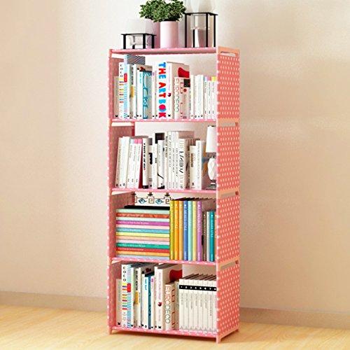 Regal Bücherregal Einfache mehrstöckige praktische Bücherregal-Schlafsaal Staubdichtes Bücherregal Kleines Klapp-Schlafsaal-Regal ( Farbe : B )