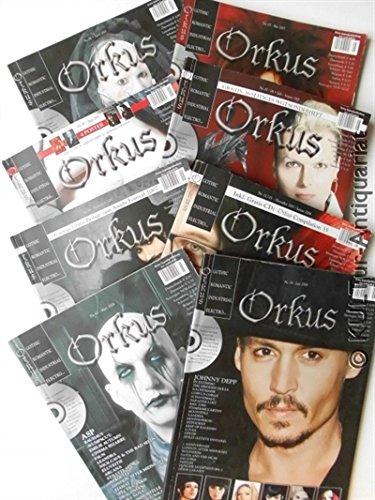 Orkus : Gothic, Romantic, Industrial, Electro ... [Konvolut aus 12 Ausgaben + Extraheft].