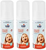 Vie Spray-On Mosquito And Insect Repellent 100ml, Deet Free, Suitable For Children And Babies ... (3 Bottle)