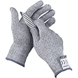 Finether - Guantes Anticorte Multi-funcionales,EN 388 Nivel 5, Size M, Gris