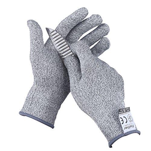 Finether Schnittschutzhandschuhe schnittfeste Handschuhe Schutzhandschuhe Küchenhandschuhe Arbeitshandschuhe 23cm x 10.5cm M