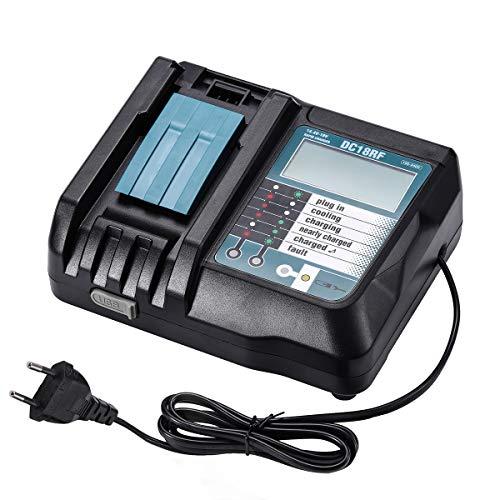 Masione 3.5A Li-Ion Ersatz Ladegeräte für Makita DC18RF DC18RA 14.4V-18V für Makita Akkus BL1830 BL1840 BL1850 BL1815 BL1430 BL1450 LXT400 DC18RC Dc14Sa Dc18Sc mit LCD Bildschirm (EU-Stecker)